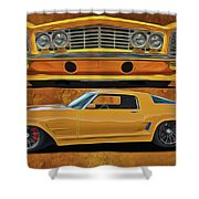Fast Yellow Shower Curtain