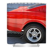 Fastback Mustang Shower Curtain