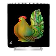 Fat Chicken By Rafi Talby  Shower Curtain