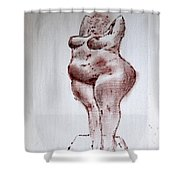 Fat Nude Woman  Shower Curtain