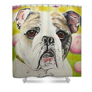 Fat Rose Shower Curtain
