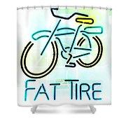 Fat Tire Shower Curtain