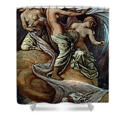 Fates Gathering In Stars Shower Curtain by Granger