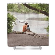 Father And Son 2 Shower Curtain