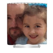Father Daughter Shower Curtain