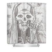 Father Health And Wisdom Shower Curtain