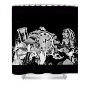 Father Time In Black And White Shower Curtain