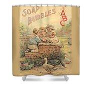 Father Tucks Soap Bubble Shower Curtain
