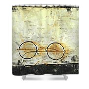Father's Glasses Shower Curtain