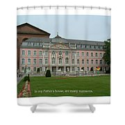 Fathers House Many Mansions Shower Curtain