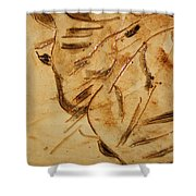 Fathers Joy Tile Shower Curtain