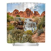 Faux Falls Shower Curtain