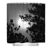 Favorite Full Moon Shower Curtain