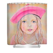 Fayanna Little French Angel Of Trust Shower Curtain