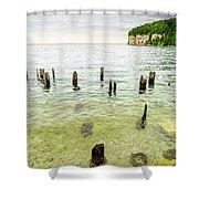 Fayette State Park Shoreline Shower Curtain
