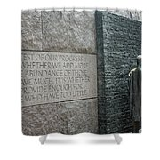 Fdr Memorial - Shared Sacrifice Shower Curtain