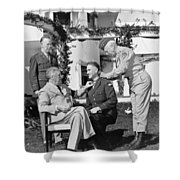 Fdr Presenting Medal Of Honor To William Wilbur Shower Curtain