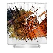 Fear Earthy Rainbow 3 Dimensional Shower Curtain