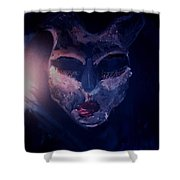 Fear Turns Into Compassion Shower Curtain