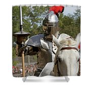 Knight With Lance Shower Curtain