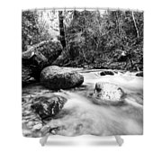 Feather Falls Stream Shower Curtain