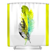 Feather Fusion Shower Curtain
