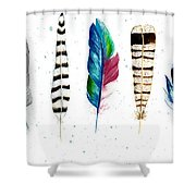 Feather Study Shower Curtain