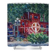 Featherbed Railroad Caboose Shower Curtain