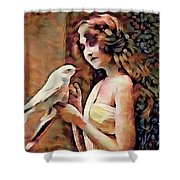 Feathered Confidant Shower Curtain