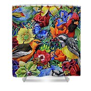 Feathered Foliage Shower Curtain