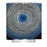 Feathered Portal Original Painting Shower Curtain