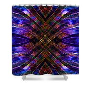 Feathered Stained Glass Shower Curtain