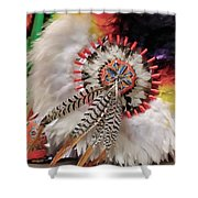 Feathers And Beads Shower Curtain