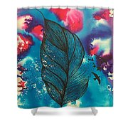 Feathers And Birds  Shower Curtain