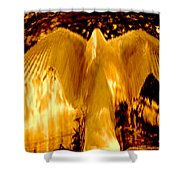 Feathers Of Light - Gold Shower Curtain