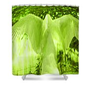 Feathers Of Light - Green Shower Curtain