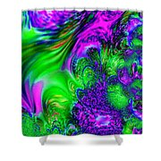 Feathery Winds Shower Curtain
