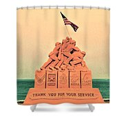 February 1945 Shower Curtain