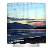 February At Dusk Shower Curtain