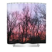 February At Twilight Shower Curtain