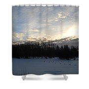 February Dawn Clouds Shower Curtain