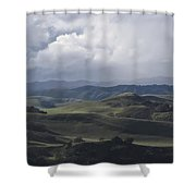 February  Rain Storm Shower Curtain
