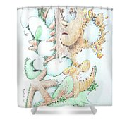 Fecundity Shower Curtain