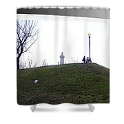 Federal Hill Dog Shower Curtain