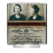 Federal Prohibition Agent Daisy Simpson 1921 Shower Curtain