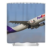 Fedex Airplane Shower Curtain