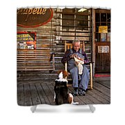 Feed The Dog Shower Curtain