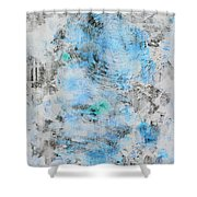 Feeling Deja Blue Shower Curtain