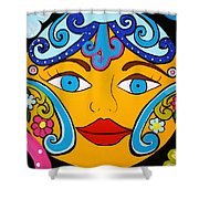 Feeling Groovy Shower Curtain