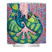 Feline Feedback Loop Shower Curtain